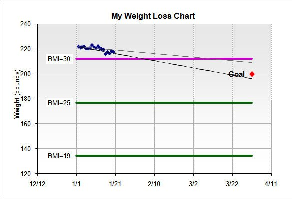 Weight Loss Chart Template Weight Loss Chart Template – 9 Free Word Excel Pdf