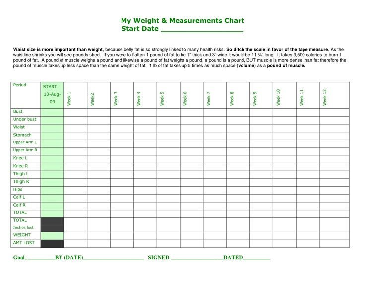 Weight Loss Measurement Charts Best 25 Body Measurement Chart Ideas On Pinterest