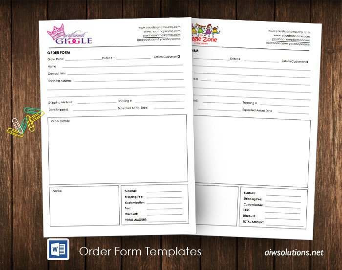 Wholesale order form Template Custom Catalog Custom Line Sheet Line Sheet Design