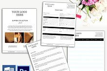Wholesale order form Template wholesale order form Stationery Templates On Creative Market