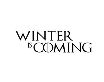 Winter is Coming Font Game Of Thrones Winter is Ing Wolf Head Vector Logo for