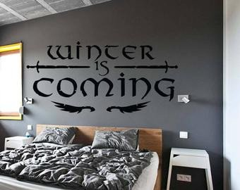 Winter is Coming Font Kids Room Sticker