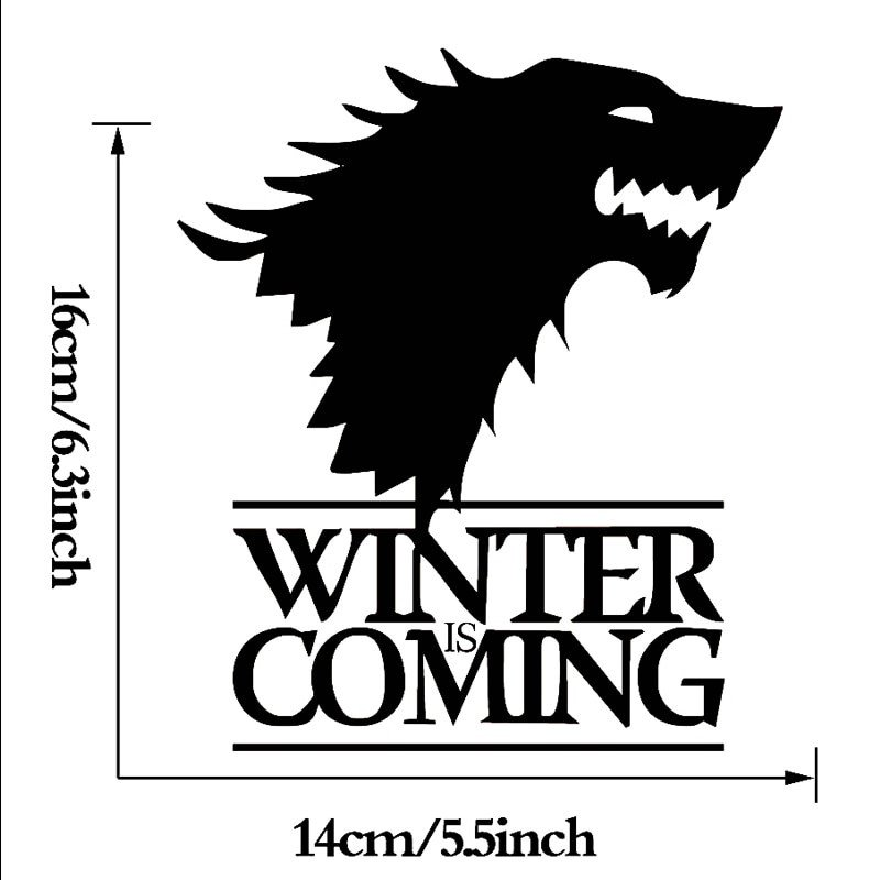 Winter is Coming Font Line Get Cheap Wolf Window Decal Aliexpress