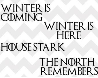 Winter is Coming Font the north Remembers