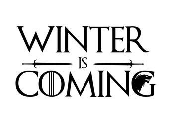 Winter is Coming Font Throne Of Swords