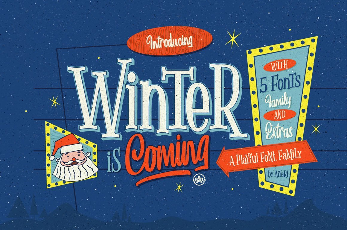 Winter is Coming Font Winter is Ing Extras Display Fonts Creative Market