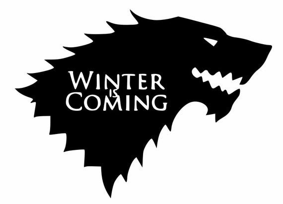 Winter is Coming Font Winter is Ing Game Thrones Decal for Your Smartphone