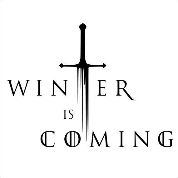 Winter is Coming Font Winter is Ing Game Thrones Vinyl Decal 2 by