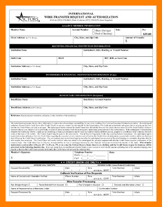 Wire Transfer Instructions Template 7 Wire Transfer Template Word