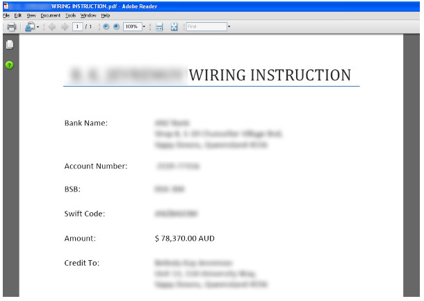 Wire Transfer Instructions Template Scam Alert New Wire Transfer Spam Campaign Blogs