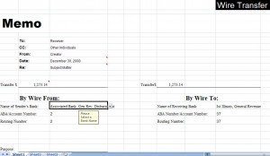 Wire Transfer Instructions Template Wire Transfer Excel Template