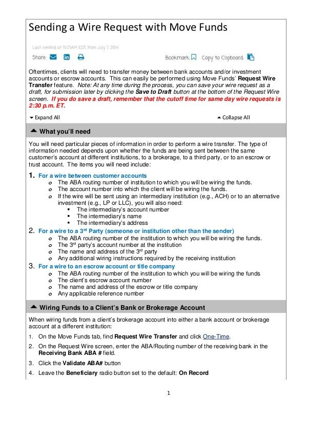 Wire Transfer Instructions Template Wire Transfer Instructions