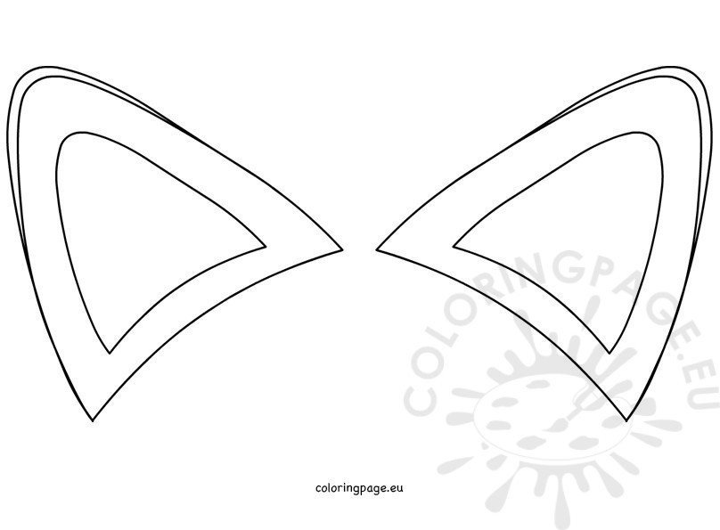 Wolf Ears Template Fox Ears Template – Coloring Page