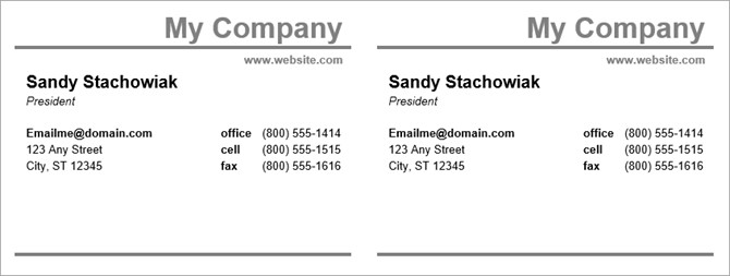 Word Business Card Templates How to Make Free Business Cards In Microsoft Word with