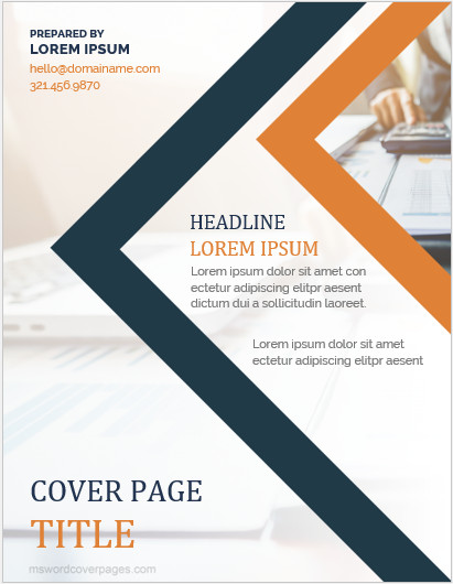 Word Cover Page Templates 10 Best Report Cover Page Templates for Businesses