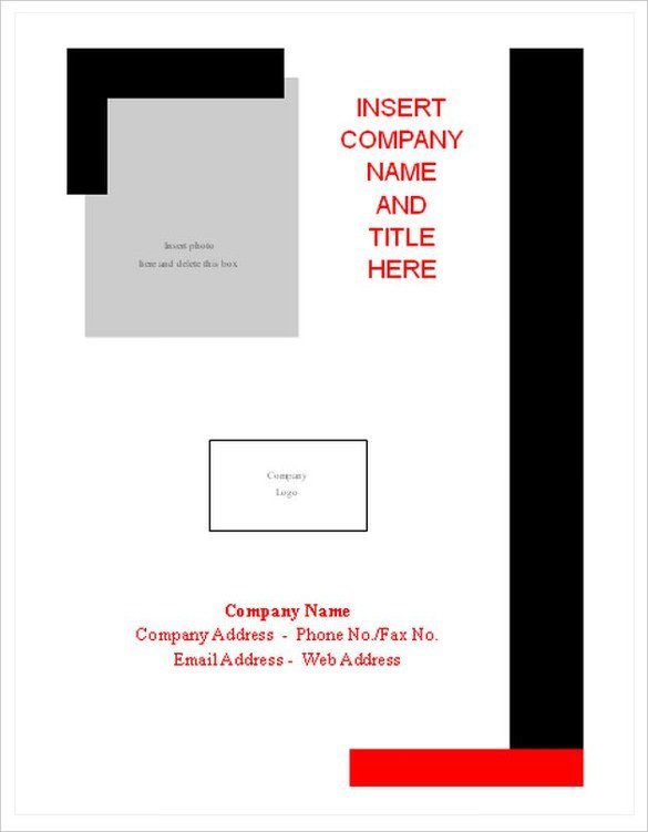 Word Cover Page Templates 12 Cover Sheet Doc Pdf