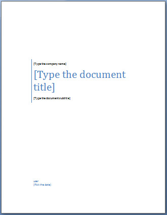 Word Cover Page Templates Add A Cover Page to A Word Document