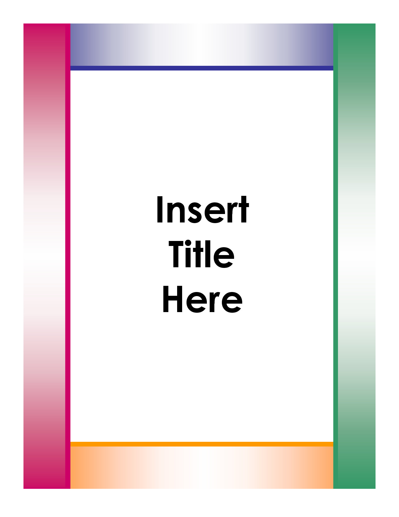 Word Cover Page Templates Cover Page Template