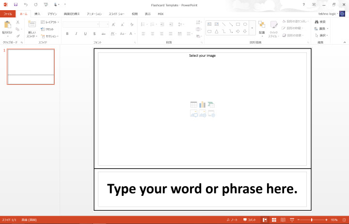 Word Flash Card Template Making Flashcards In Powerpoint – Tekhnologic