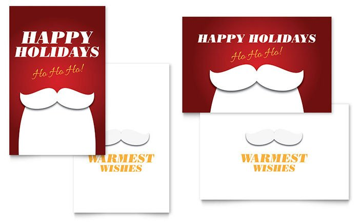 Word Greeting Card Template Ho Ho Ho Greeting Card Template Word & Publisher