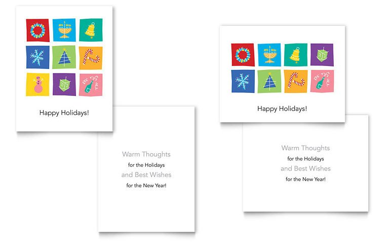 Word Greeting Card Template Holiday Icons Greeting Card Template Word & Publisher