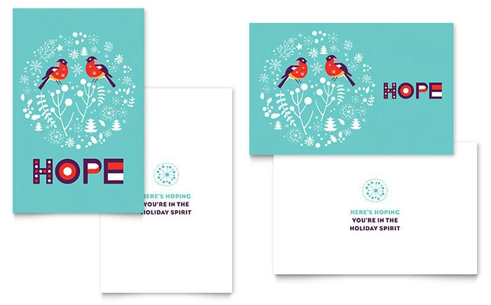 Word Greeting Card Template Hope Greeting Card Template Word & Publisher