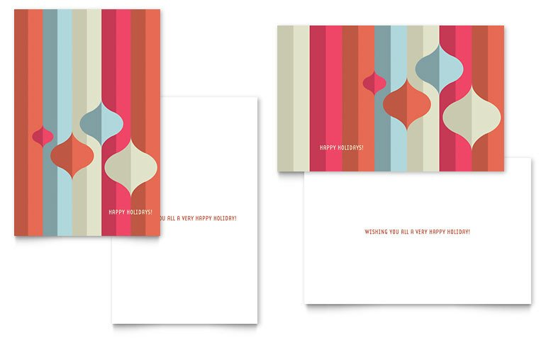 Word Greeting Card Template Modern ornaments Greeting Card Template Word & Publisher