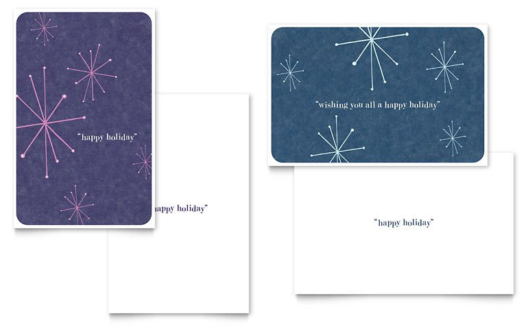 Word Greeting Card Template Snowflake Wishes Greeting Card Template Word & Publisher