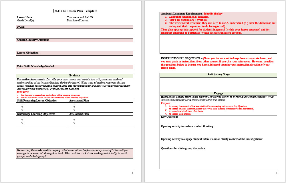 Word Lesson Plan Template 39 Free Lesson Plan Templates Ms Word and Pdfs