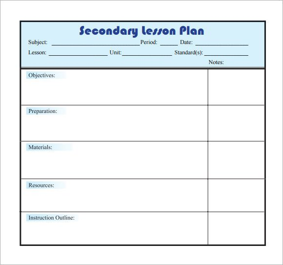 Word Lesson Plan Template Sample Lesson Plan 9 Documents In Pdf Word