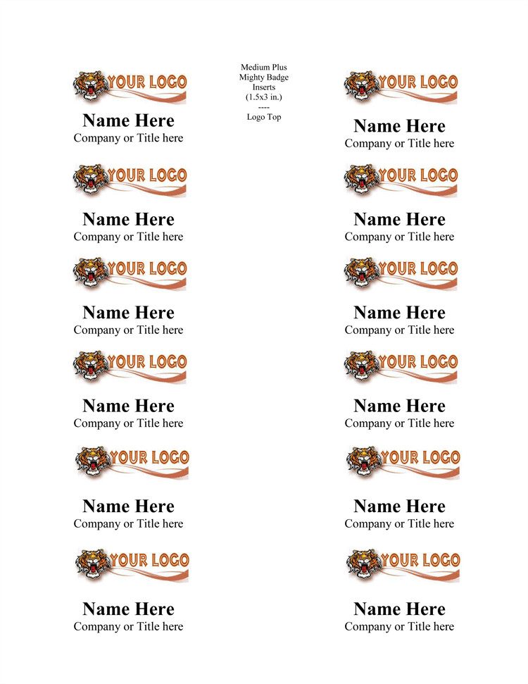 Word Name Tag Template 5 Name Tag Templates to Print Custom Name Tags