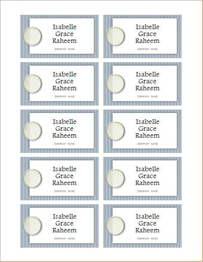 Word Name Tag Template Name Tag Templates for Ms Word