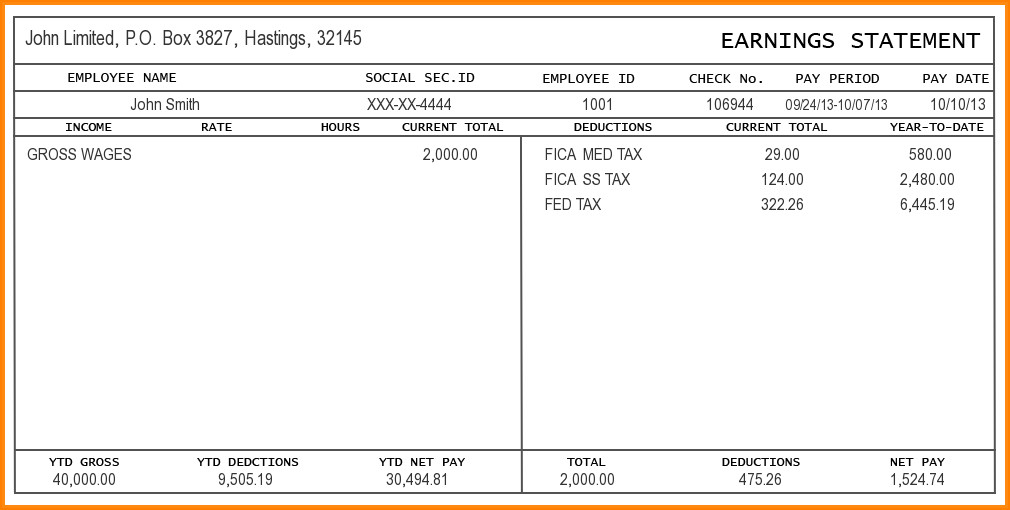 Word Pay Stub Template 9 Free Editable Pay Stub Template
