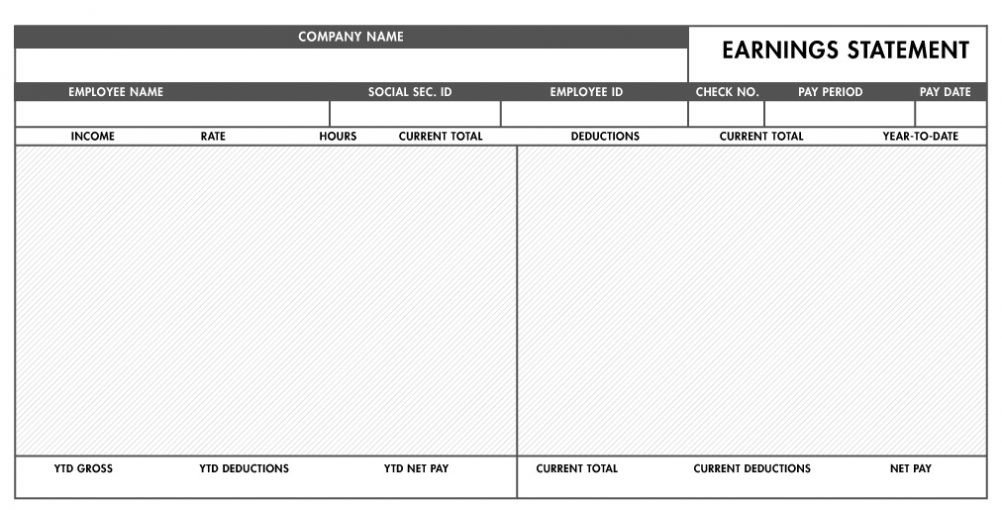 Word Pay Stub Template Free Pay Stub Template with Calculator Word Excel