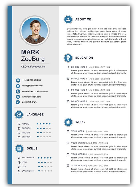 Word Resume Template Download 3 Free Download Resume Cv Templates for Microsoft Word