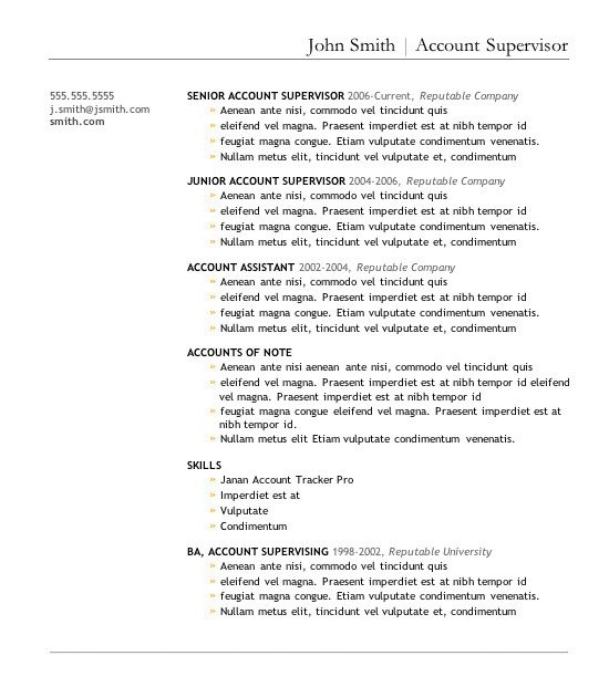 Word Resume Template Download 7 Free Resume Templates