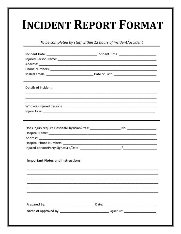 Work Incident Report Template Incident Report form Template Microsoft Excel