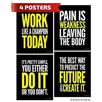 Work Out Motivation Posters Amazon Gym Inspirational Posters Motivational