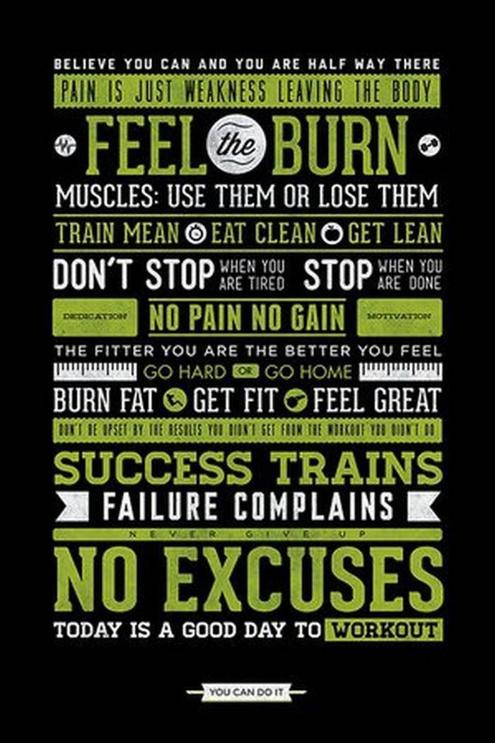 Work Out Motivation Posters the Best 31 Home Gym Posters to Motivate You