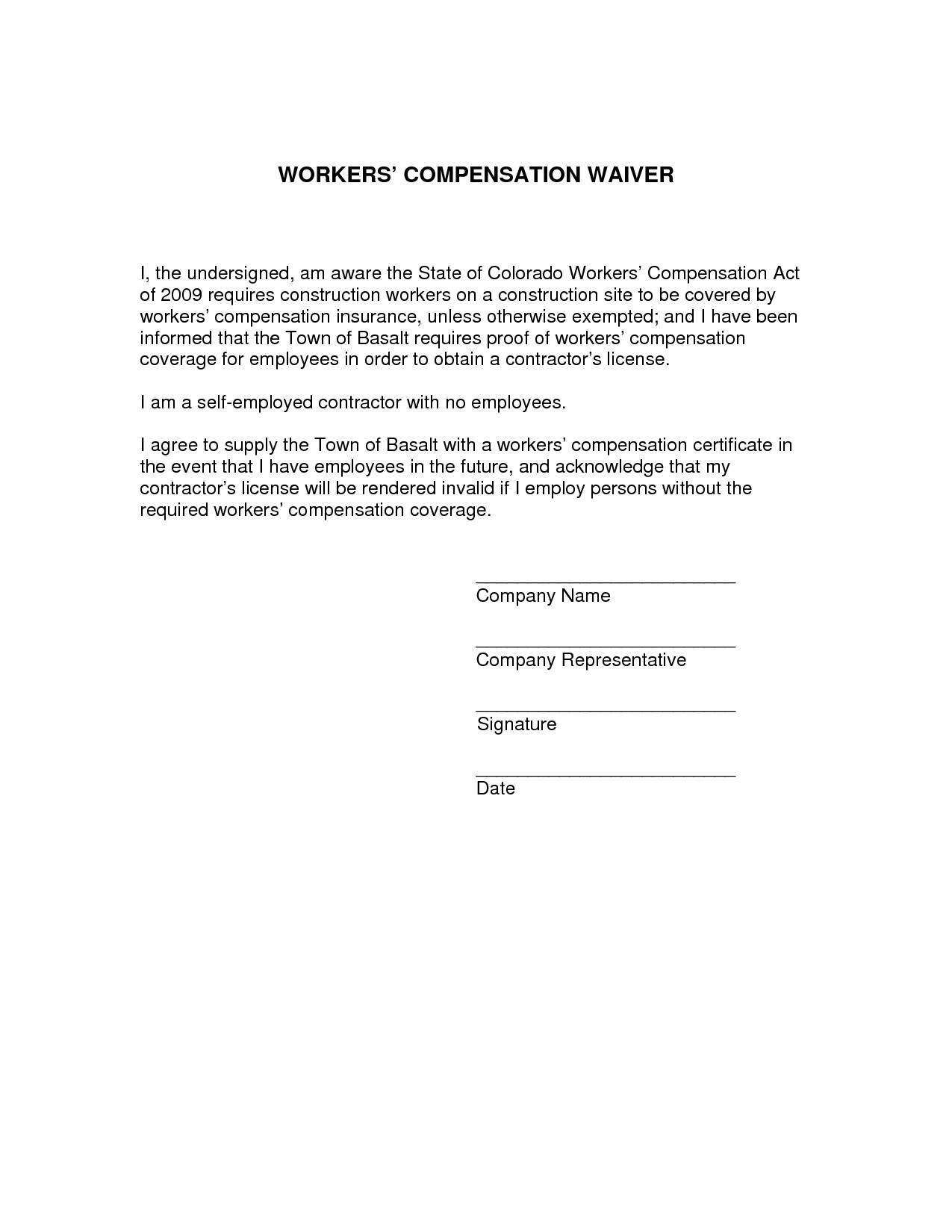 Workers Compensation Waiver form Texas Best S Of Arizona Workers Pensation Waiver form