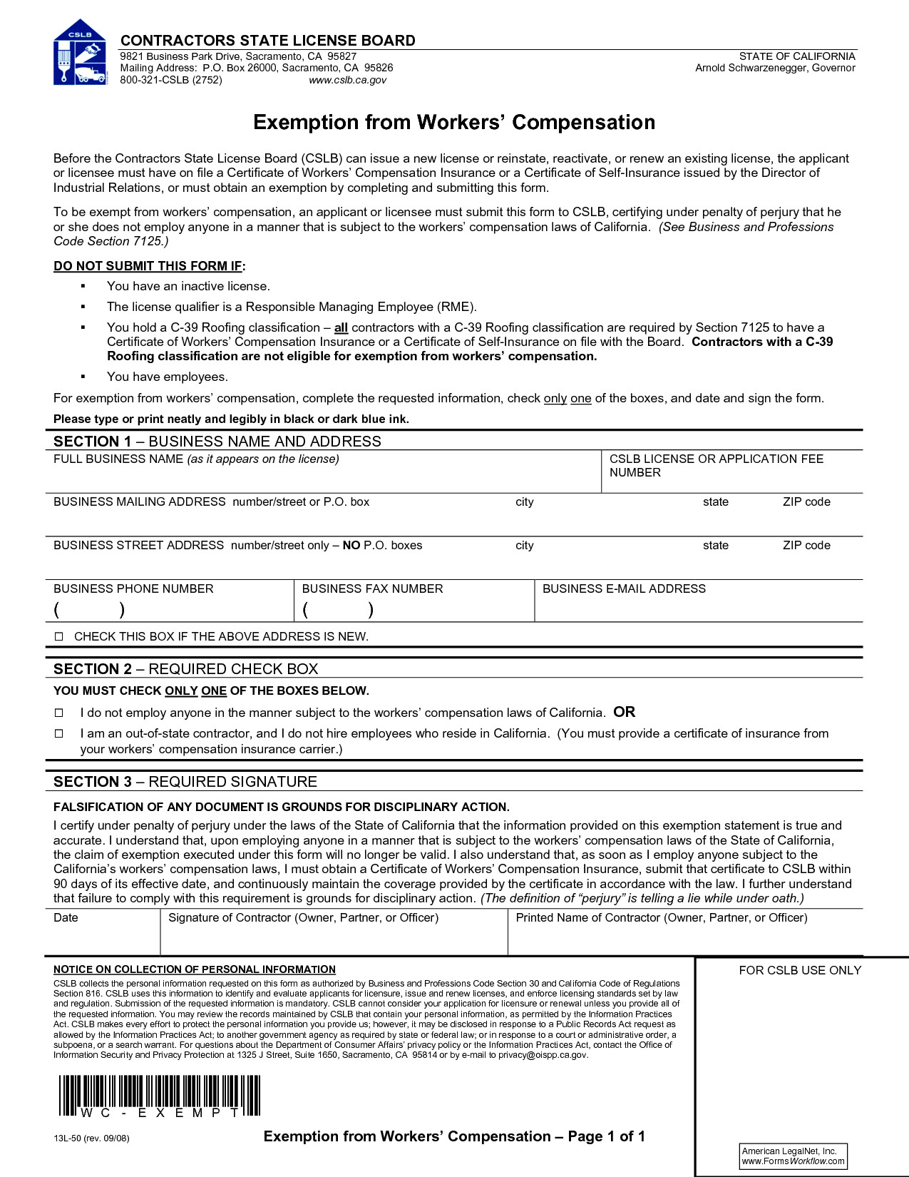 Workers Compensation Waiver form Texas Best S Of California Workers Pensation forms