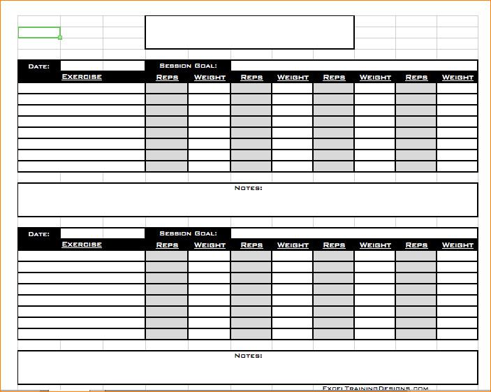 Workout Log Template Excel 6 Workout Log Excel