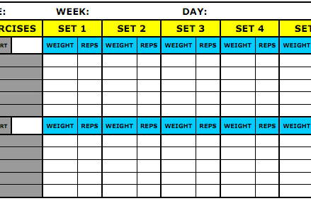 Workout Log Template Excel 8 Best Workout Log Templates for Excel and Word