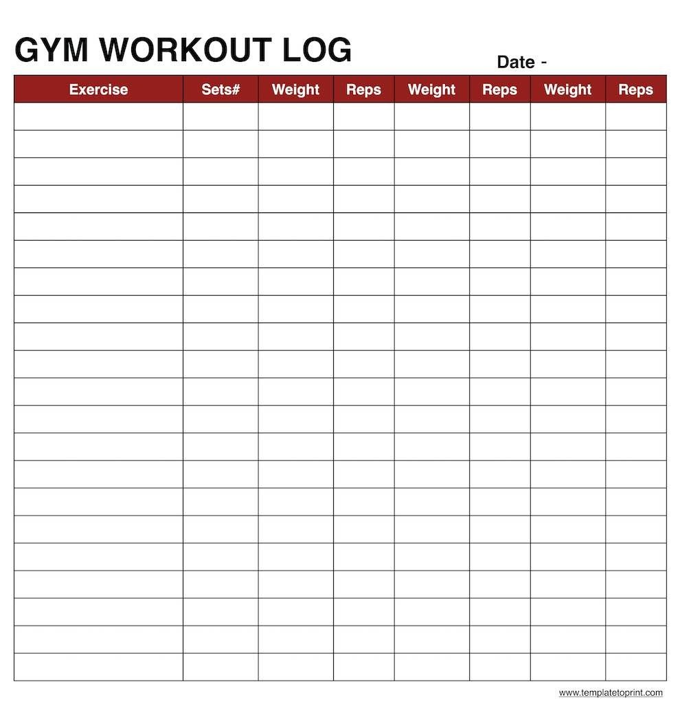Workout Log Template Excel Workout Log Book Sheet Excel Example Spreadsheet