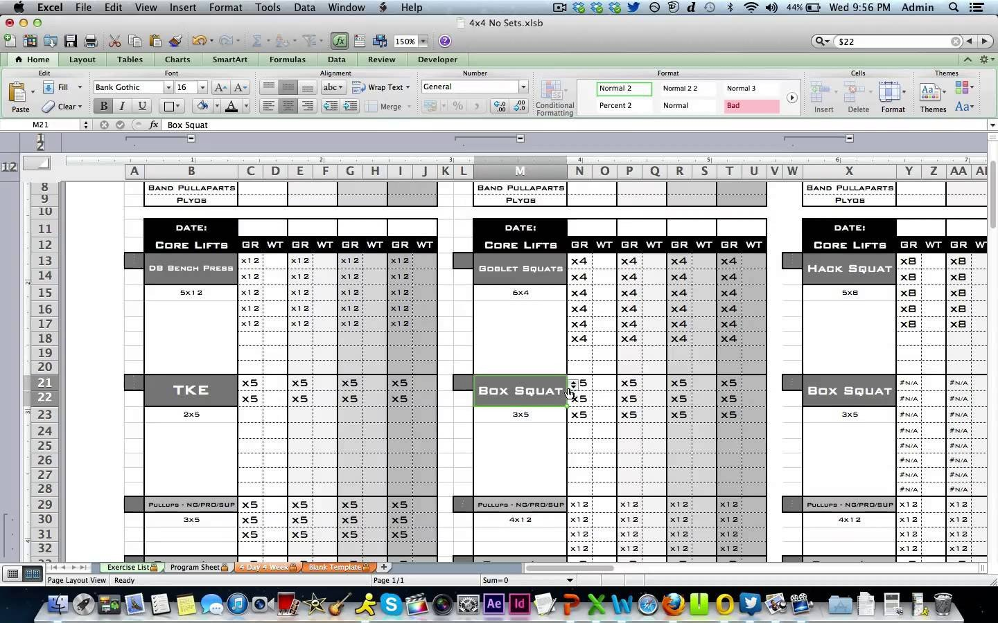 Workout Log Template Excel Workout Template Excel