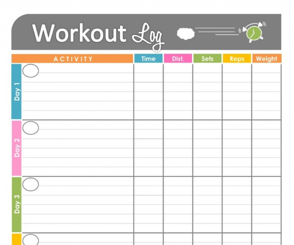 Workout Log Template Excel Workouts Log Templates Printable In Pdf Excel Template