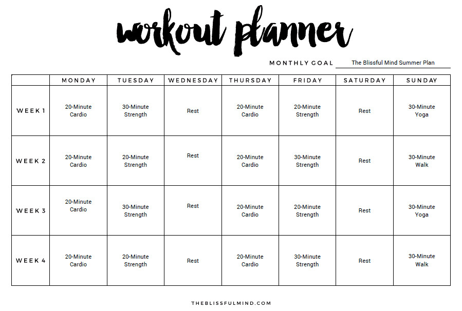 Workout Plan Template Excel 9 Excel Workout Templates Excel Templates