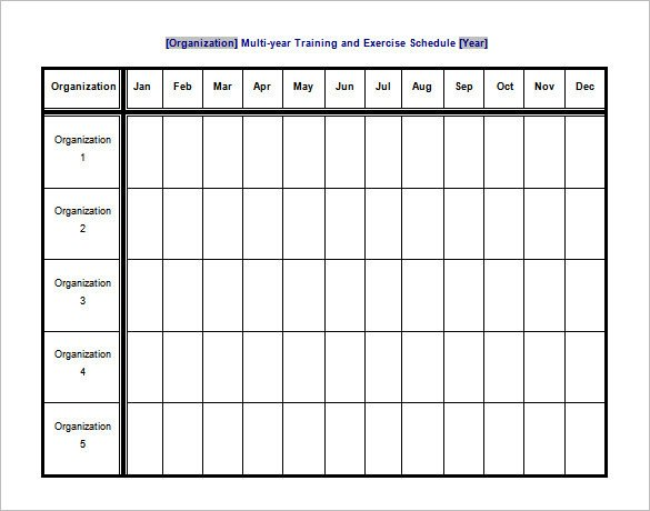 Workout Schedule Template Excel Exercise Schedule Template 7 Free Word Excel Pdf
