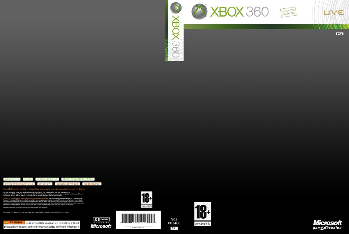 Xbox 360 Cover Template Alternativecoverart