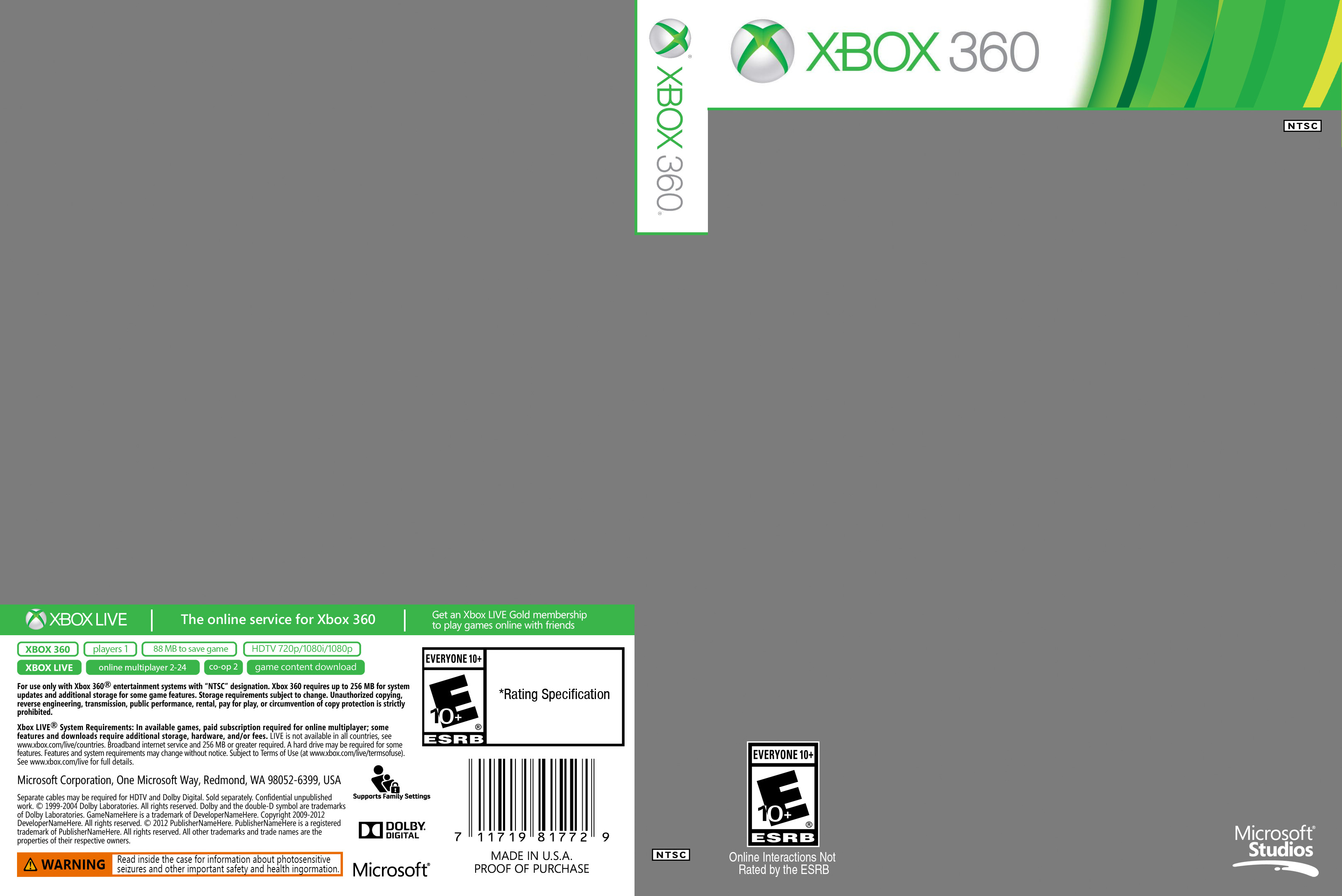 Xbox 360 Cover Template Etschannel Edward Pines On Deviantart